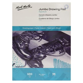 Mont Marte Jumbo Drawing Pad 22.9 x 30.5 cm 95gsm 100 Sheet