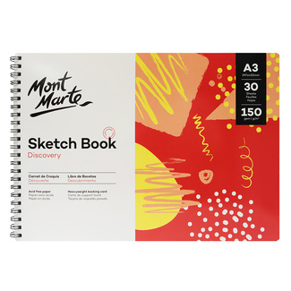 Mont Marte Discovery Sketch Book Spiral Bound A3 150gsm 30 Sheet