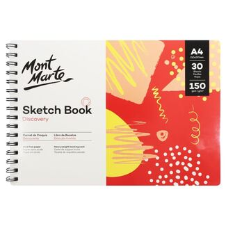 Mont Marte Discovery Sketch Book Spiral Bound A4 150gsm 30 Sheet