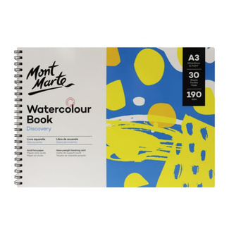 Mont Marte Discovery Watercolour Book Spiral Bound A3 190gsm