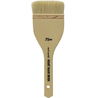 Mont Marte Pine Wood Goat Hair Brush 75mm