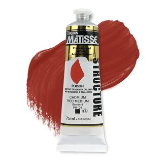 Matisse Structure Acrylic 75ml S4 - Cadmium Red Medium