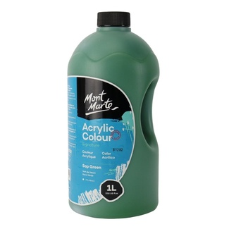 Mont Marte Signature Acrylic Paint Pump Bottle 1L - Sap Green