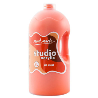 Mont Marte Studio Acrylic Paint Bottle 2L - Orange