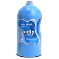 Mont Marte Studio Acrylic Paint Bottle 2L - Cerulean Blue