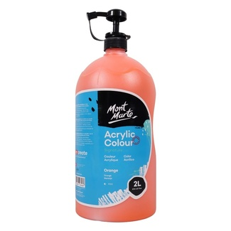 Mont Marte Studio Acrylic Paint Pump Bottle 2L - Orange
