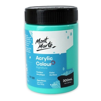 Mont Marte Signature Acrylic Paint 300ml Pot - Aqua Green