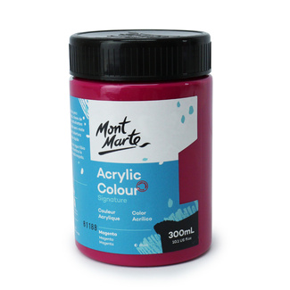 Mont Marte Signature Acrylic Paint 300ml Pot - Magenta