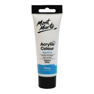 Mont Marte Signature Acrylic Paint 75ml Tube - Titanium White
