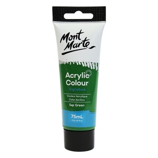 Mont Marte Studio Acrylic Paint 75ml Tube - Sap Green