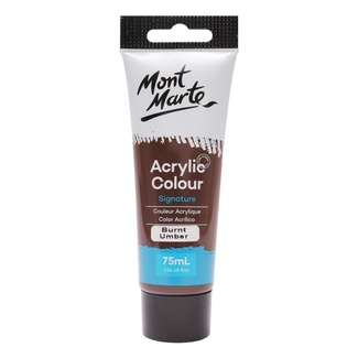 Mont Marte Studio Acrylic Paint 75ml Tube - Burnt Umber