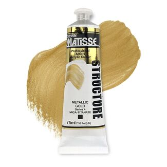 Matisse Structure Acrylic 75ml S4 - Metallic Gold