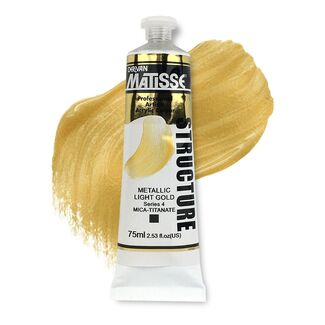Matisse Structure Acrylic 75ml S4 - Metallic Light Gold