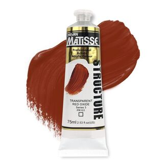 Matisse Structure Acrylic 75ml S3 - Transparent Red Oxide