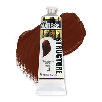 Matisse Structure Acrylic 75ml S3 - Transparent Umber