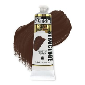 Matisse Structure Acrylic 75ml S1 - Van Dyke Brown