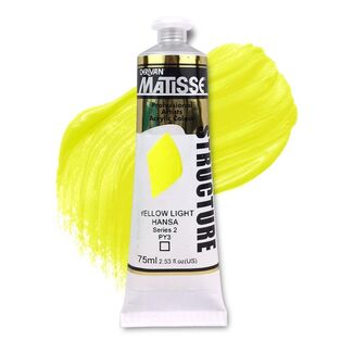 Matisse Structure Acrylic 75ml S2 - Yellow Light Hansa
