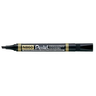 Pentel Permanent Marker 1.5 - 4.5mm - Black Chisel Point