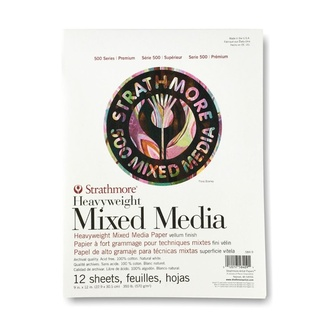 Strathmore 500 Mixed Media Pad 9 x 12 Inch 570gsm 12 Sheets