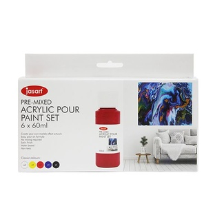 Jasart Acrylic Pouring Paint Set 6pc