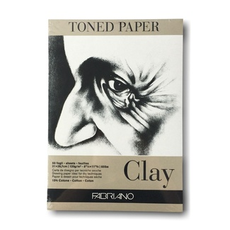 Fabriano Toned Pad A4 Clay 120gsm 50 sheets