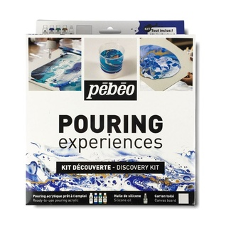 Pebeo Pouring Paint - Experiences Discovery Set 6pc