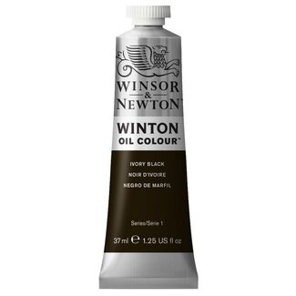 Winsor & Newton Winton Oil Colour 37ml - Ivory Black