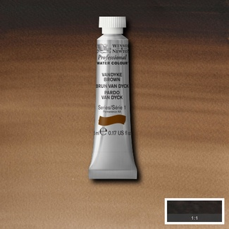 Winsor & Newton Artists' Watercolour 5ml S1 - VANDYKE BROWN