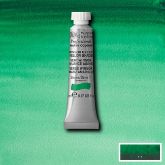 Winsor & Newton Artists' Watercolour 5ml S1 - WINSOR GREEN (YELLOW SHADE)