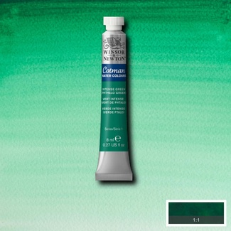 Winsor & Newton Cotman Watercolour Paint 8ml - Intense Green