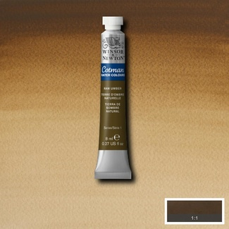 Winsor & Newton Cotman Watercolour Paint 8ml - Raw Umber