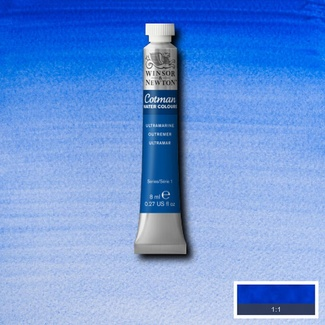 Winsor & Newton Cotman Watercolour Paint 8ml - Ultramarine Blue