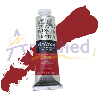 Winsor & Newton Artisan Water Mixable Oil Colour 37ml S2 - Cadmium Red Medium