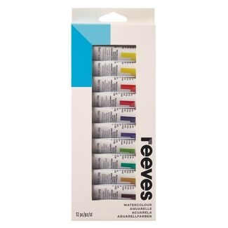 Reeves Paint Set - Watercolour 12 x 10ml