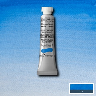 Winsor & Newton Artists' Watercolour 5ml S3 - CERULEAN BLUE (RED SHADE)