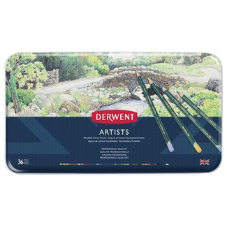 Derwent Artist Colouring Pencil Tin Of 36