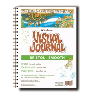 Strathmore Wire Bound Bristol Paper Pad - Smooth 9 x 12 Inch 260gsm 48 Sheets