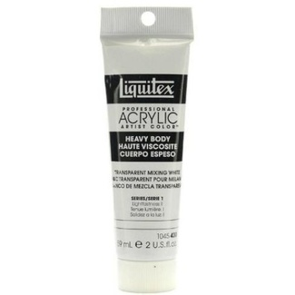 Liquitex Heavy Body Acrylic Paint 59ml S1 - Transparent Mixing White 430