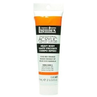 Liquitex Heavy Body Acrylic Paint 59ml S3 - Vivid Red Orange 620