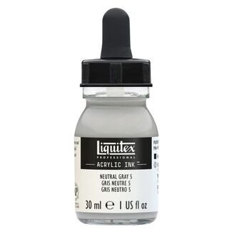 Liquitex Professional Acrylic Ink 30mls - Neutral grey Value 5/Mixing grey 599