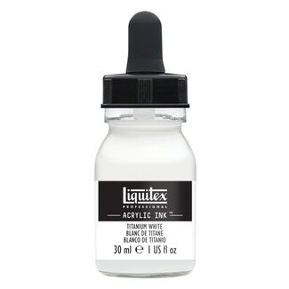 Liquitex Professional Acrylic Ink 30mls - Titanium white 432