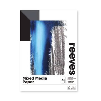 Reeves Mixed Media Pad A4 200gsm 15 Sheets