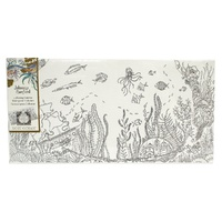 "Johanna Basford Colouring In Canvas - Lost Ocean 12"" x 24"" Ocean"