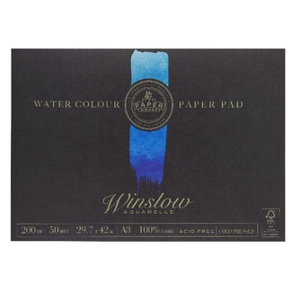 The Paper House - Winslow Watercolour Pad A3 200gsm 50 Sheets - Medium (Cold Pressed)