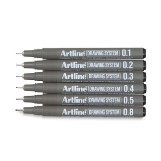 Artline Drawing System Fineliners Set of 6
