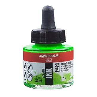 Royal Talens Amsterdam Acrylic Ink 30ml - Reflex Green