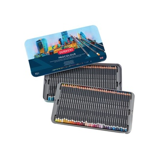 Derwent Procolour Colouring Pencil Tin Of 72