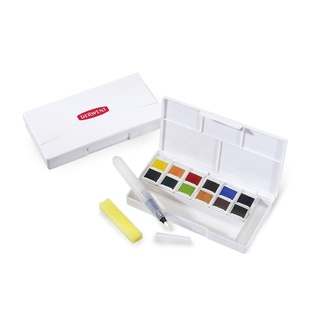 Derwent Inktense 12 Pan Ink / Watercolour Paint Travel Set