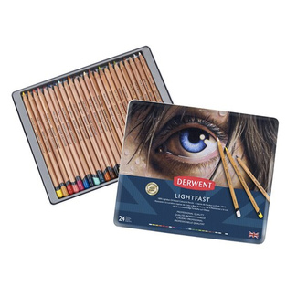Derwent Lightfast Colouring Pencil Tin Of 24