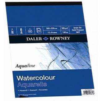Daler Rowney Aquafine Watercolour Pad A4 300gsm 12 Sheet (Cold Press)